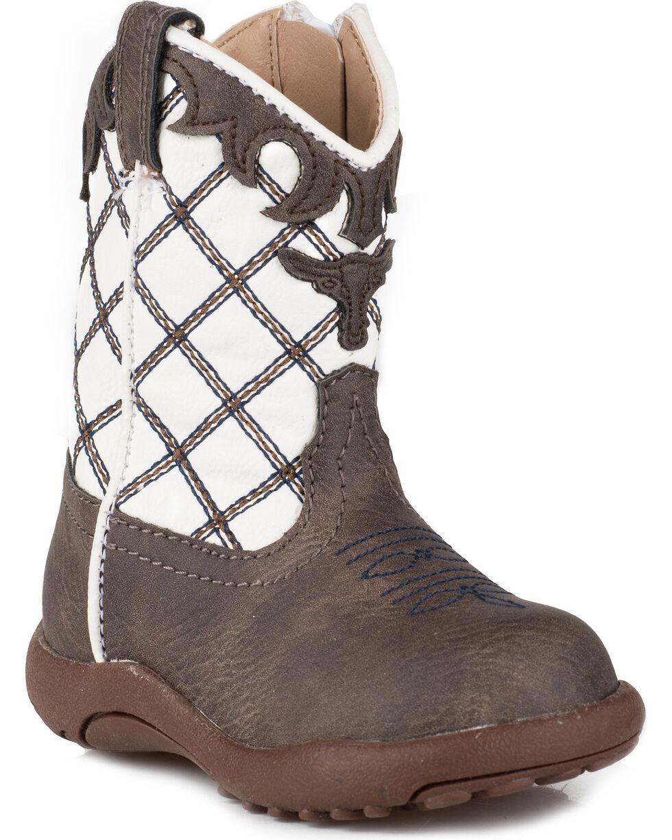 Roper Infant Boys' Cowbaby Steerhead Pre-Walker Cowboy Boots, Brown, hi-res