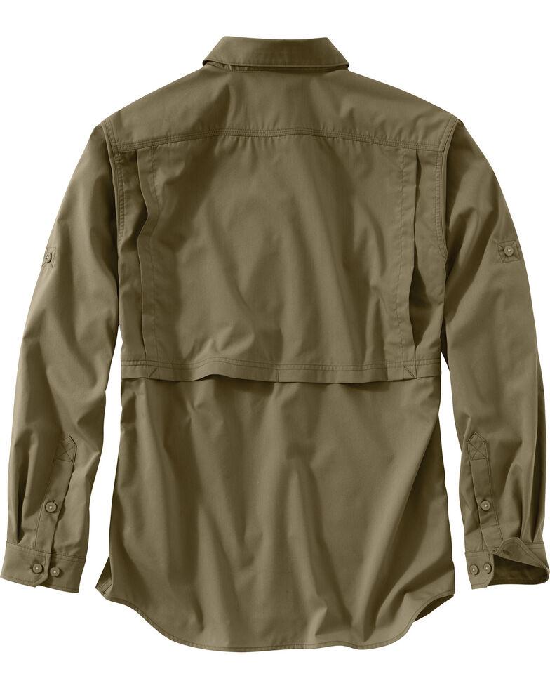 Carhartt Men's Force Ridgefield Solid Long Sleeve Shirt , Olive, hi-res
