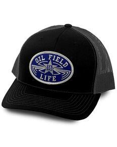 Oil Field Hats Men's Multi Luckenbach Logo Circle Patch Mesh-Back Ball Cap, Multi, hi-res