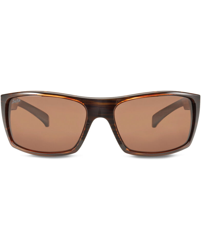Hobie Men's Satin Brown Wood Grain Baja Polarized Sunglasses  , Brown, hi-res