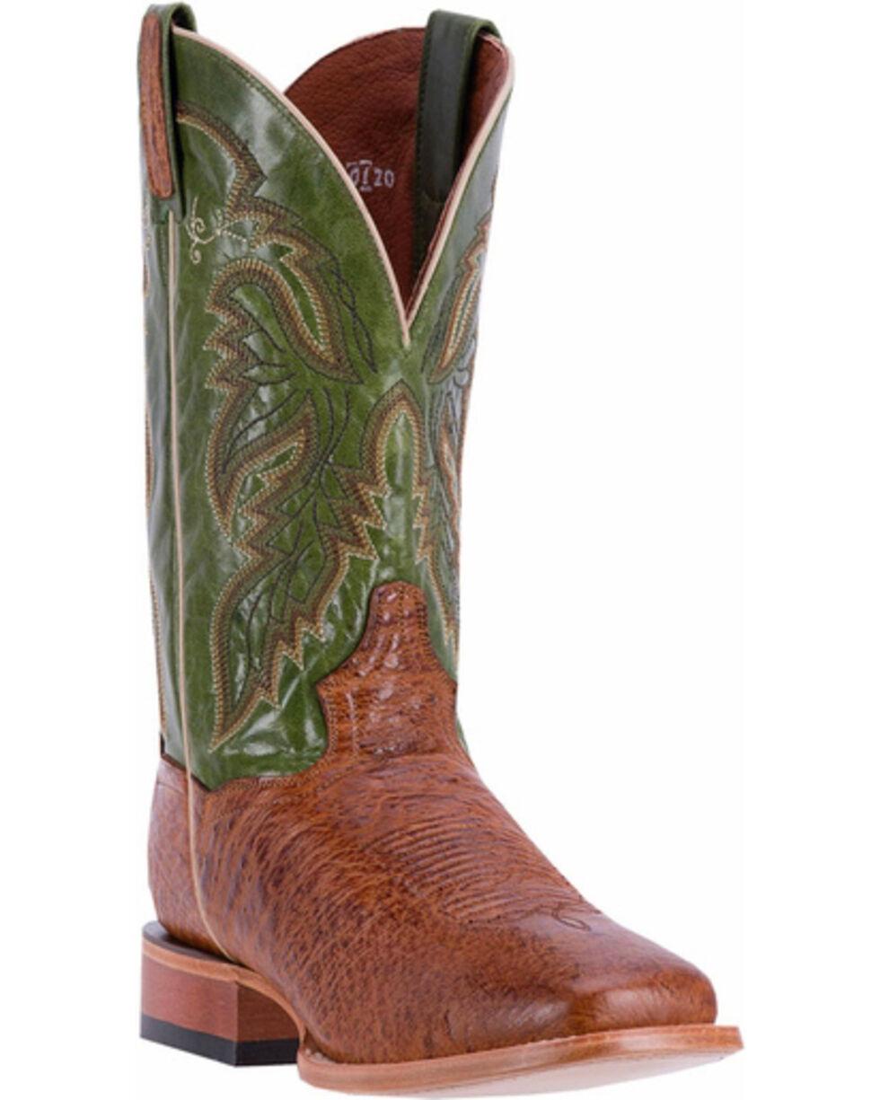 Dan Post Men's Brown Callahan Smooth Ostrich Boots - Square Toe , Brown, hi-res