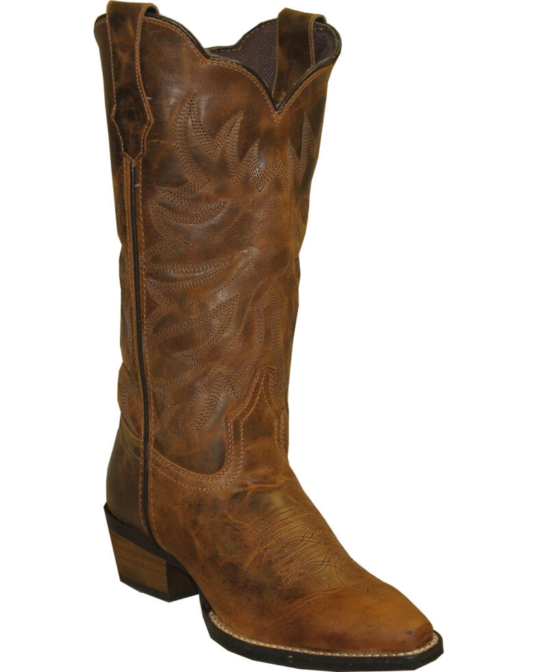 Rawhide by Abilene Boots Women's Scalloped Western Boots - Snip Toe, Brown, hi-res
