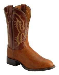 Tony Lama Men's Aztec Shoulder Cowboy Boots - Round Toe, Brit Tan, hi-res