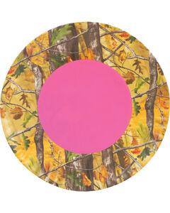 Pink Camo Melamine Plate, Pink, hi-res