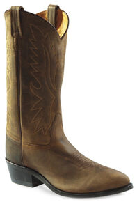 Old West Men's Distressed Polanil Western Boots - Medium Toe, Distressed, hi-res