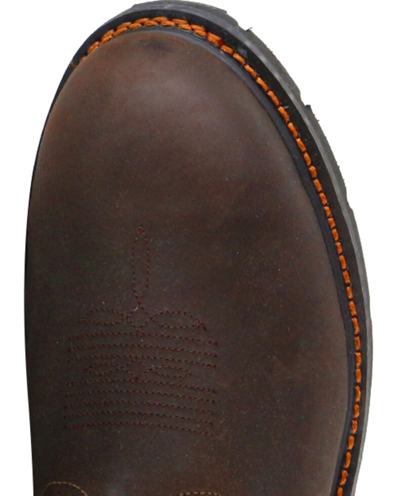 Cody James Men's Western Work Boots - Composite Toe, Brown, hi-res
