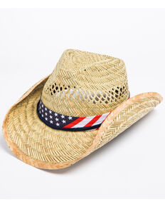 89bc195f911d4 Cody James Mens American Flag Drawstring Cowboy Hat