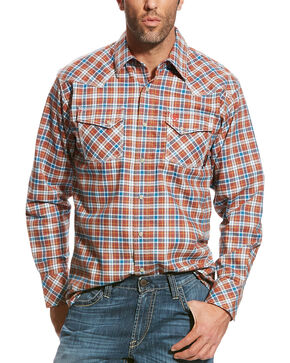 Ariat Men's Red FR Billings Retro Work Shirt , Multi, hi-res