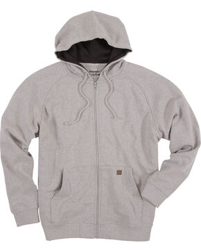 Wrangler Men's Heather Grey Riggs Workwear Zip Hoodie, Heather Grey, hi-res