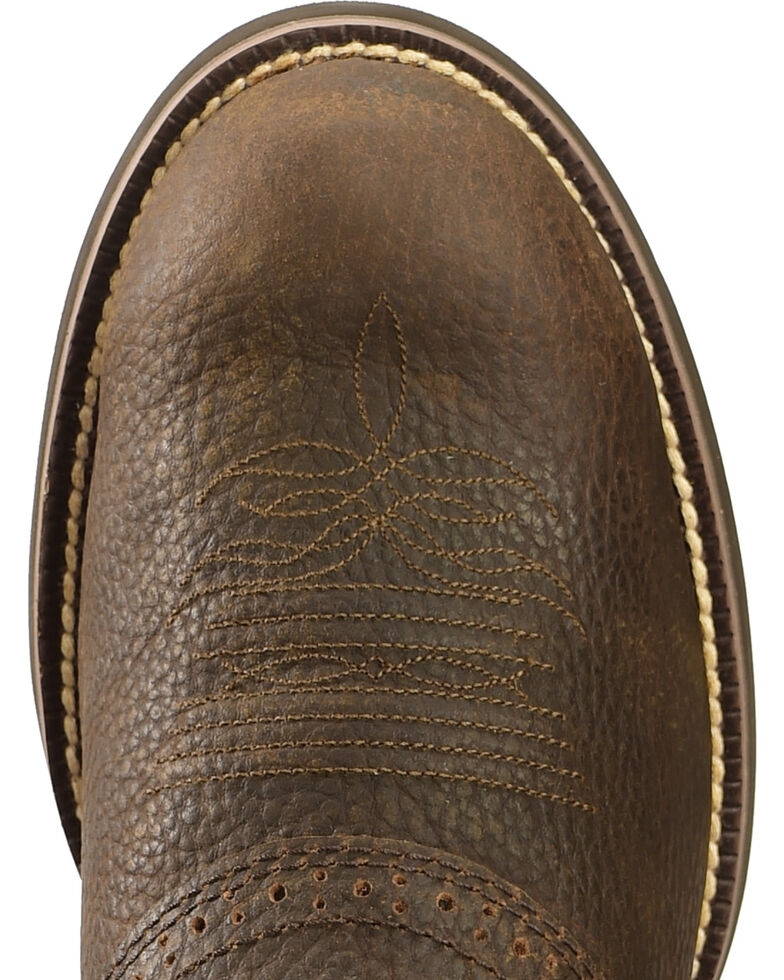 Justin Stampede Cattleman Cowboy Boots Round Toe Sheplers
