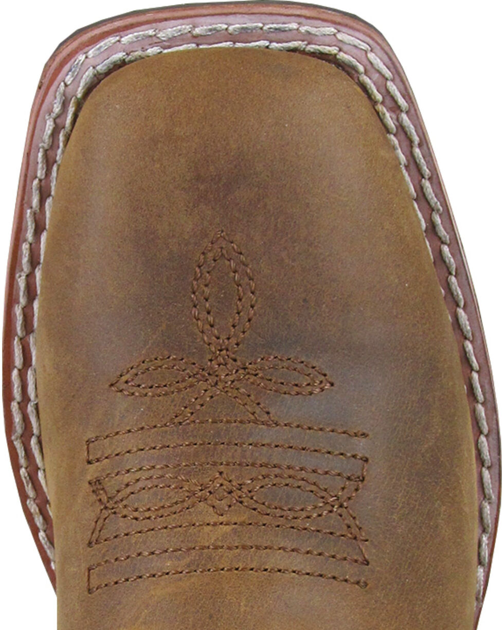 Smoky Mountain Boys' Green Jesse Western Boots - Square Toe , Brown, hi-res