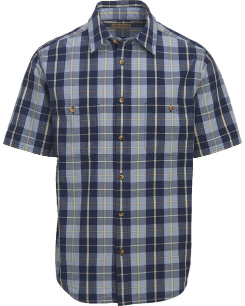 Woolrich Men's Tall Pine Ripstop Plaid Shirt , Blue, hi-res