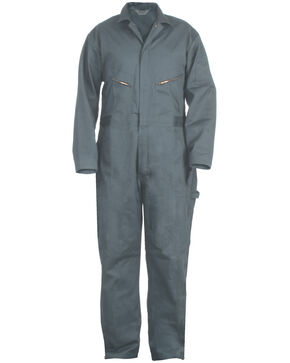Berne Deluxe Unlined Coveralls - Short Size, Blue, hi-res