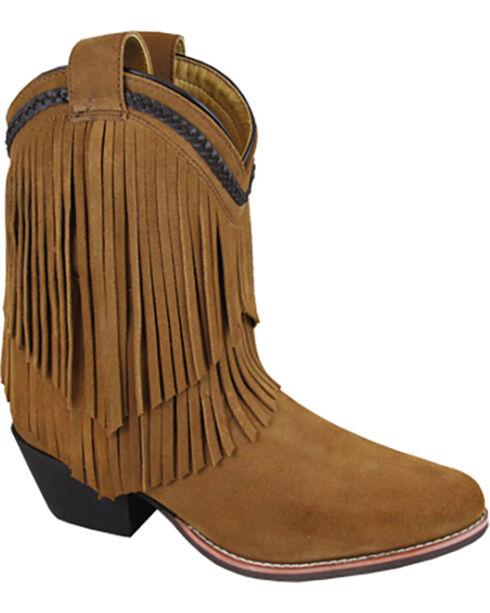 Smoky Mountain Women's Abby Western Boots - Medium Toe , Brown, hi-res