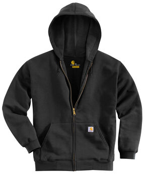 Carhartt Hooded Zip Sweatshirt - Big & Tall, Black, hi-res