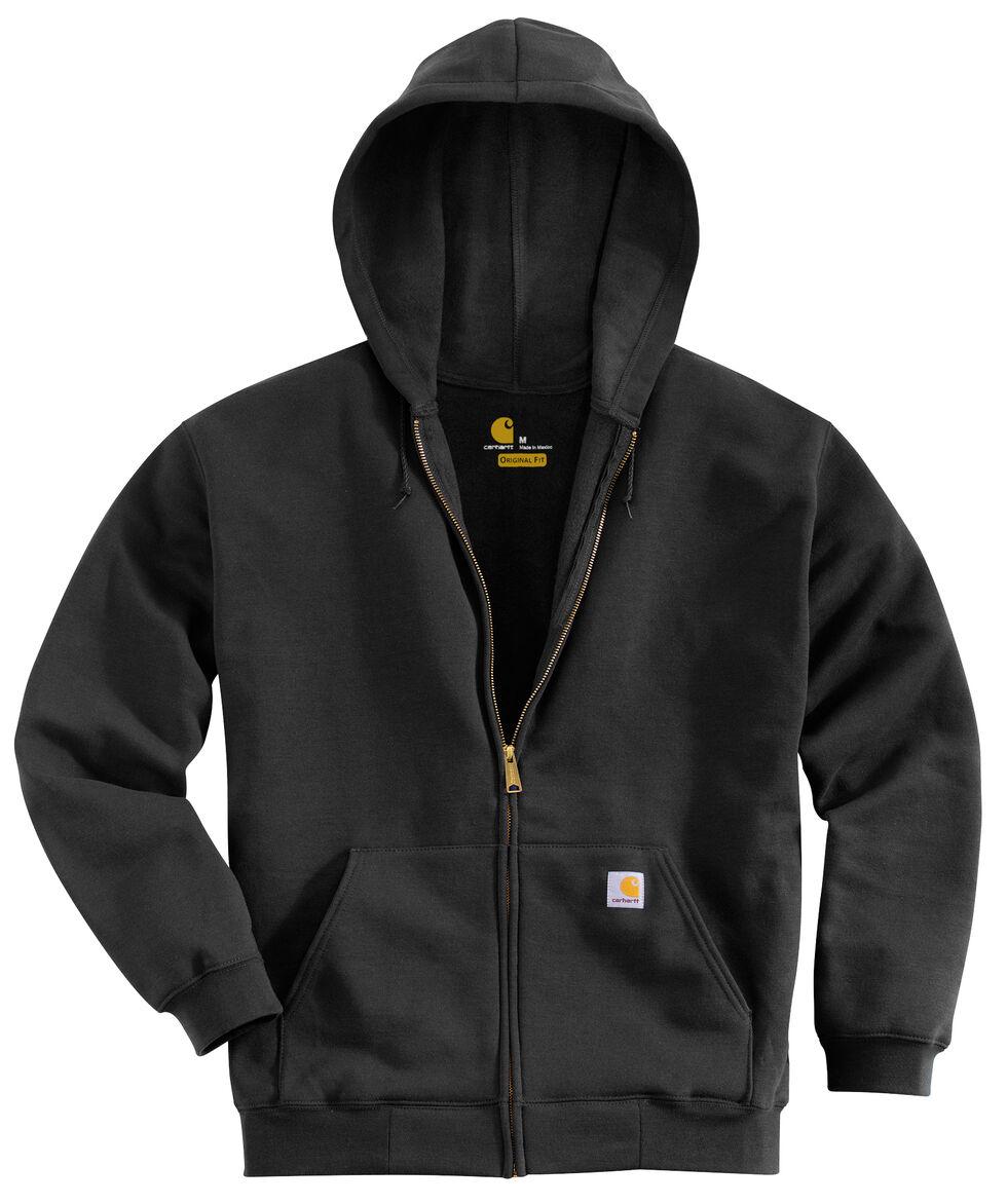 Carhartt Hooded Zip Sweatshirt - Big & Tall, Black, hi-res