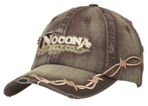 Nocona Barbed Wire Embroidered Cap, Brown, hi-res