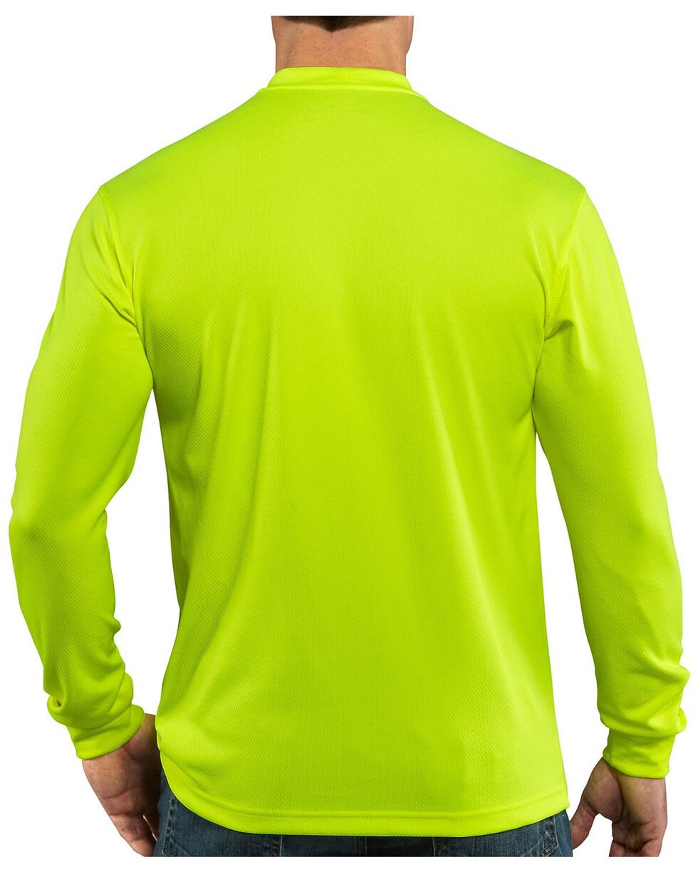 Carhartt Force Color-Enhanced Long Sleeve T-Shirt - Big & Tall, Lime, hi-res