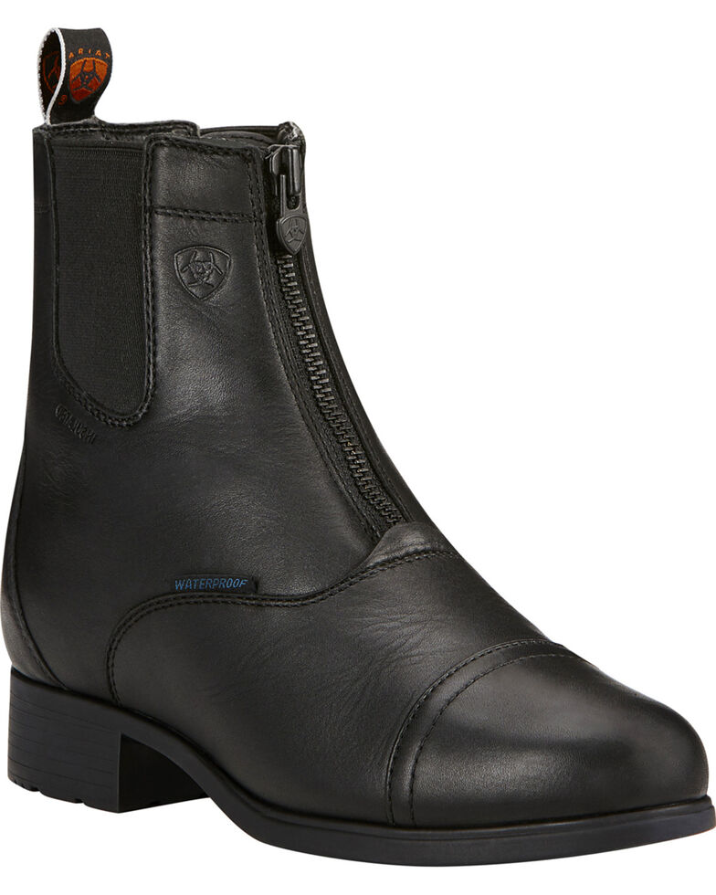 Ariat Women's Black Bromont Pro Zip Insulated Paddock Boots, Black, hi-res
