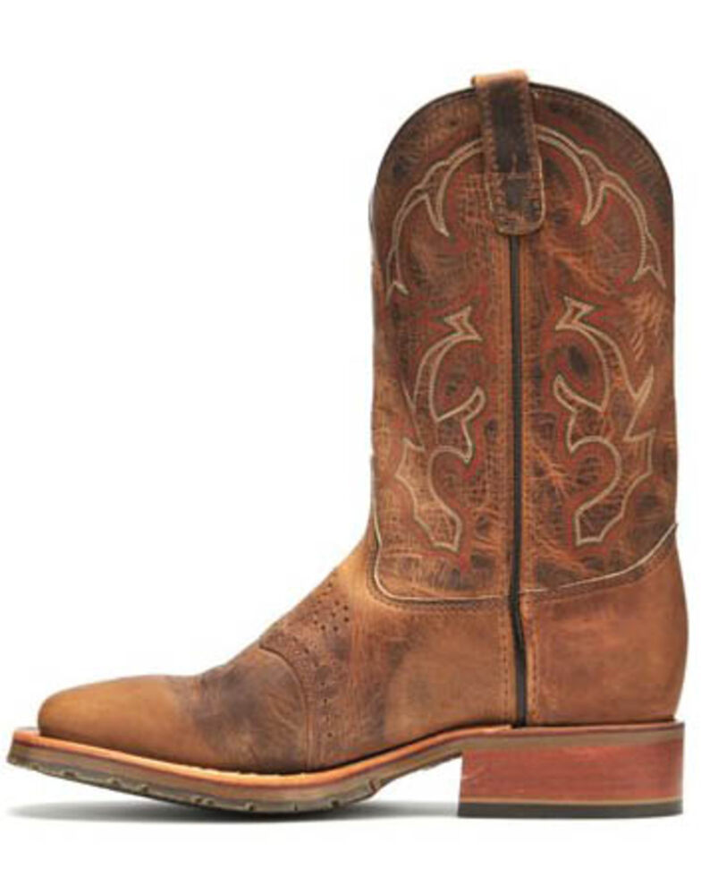 Double H ICE Roper Western Work Boots - Wide Square Toe, Tan, hi-res