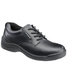 SkidBuster Women's Black Slip-Resistant Oxford Work Shoes , Black, hi-res