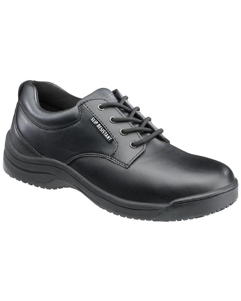 SkidBuster Women's Black Slip-Resistant Oxford Work Shoes , Black, hi-res