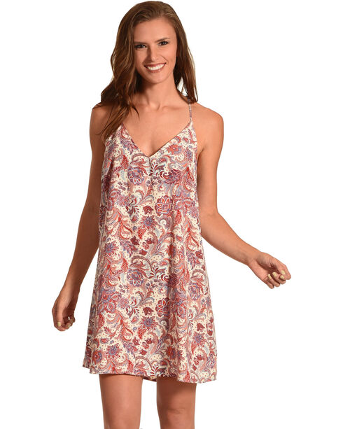 Sage the Label Women's Olivia Floral Print Dress, Cream, hi-res