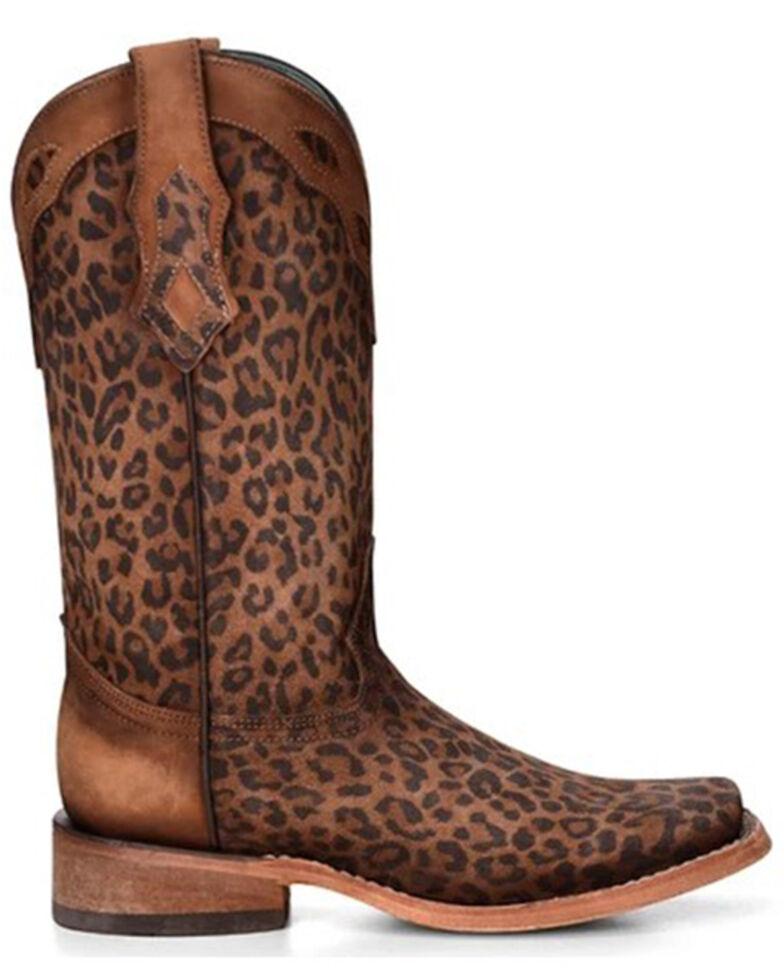 Corral Women's Leopard Print Western Boots - Square Toe, Leopard, hi-res