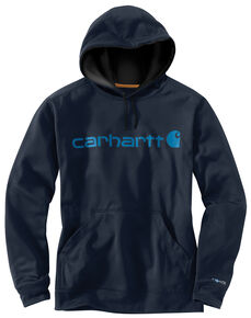 Carhartt Extremes® Force Signature Graphic Hooded Sweatshirt - Big & Tall, Navy, hi-res
