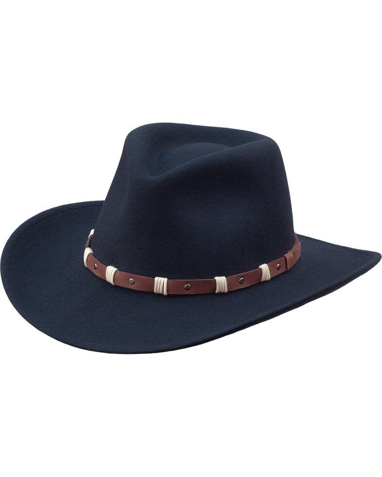 Black Creek Men s Black Crushable Wool Felt Western Hat  a71bb8d59919