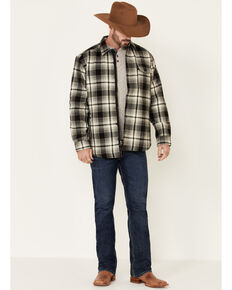 Dakota Grizzly Men's Wade Brawny Flannel Long Sleeve Western Shirt Jacket , Stone, hi-res