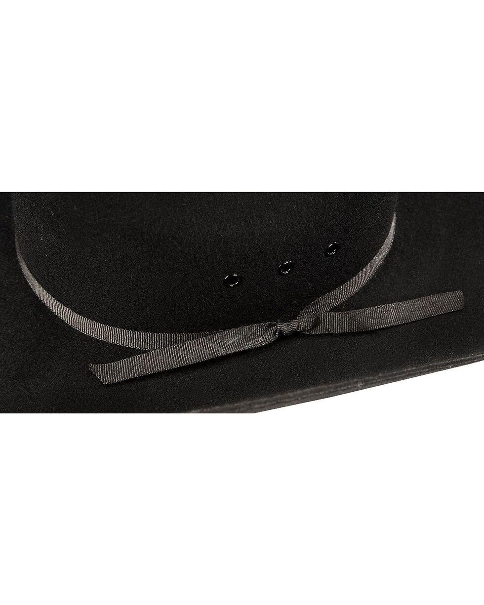 M&F Western Kids' Wool Felt Cattleman Cowboy Hat, Black, hi-res