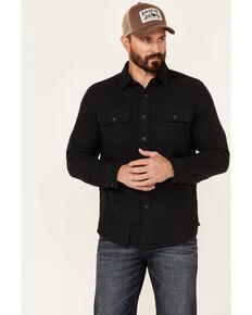 Pendleton Men's Dark Charcoal Burnside Long Sleeve Button-Down Western Flannel Shirt , Charcoal, hi-res
