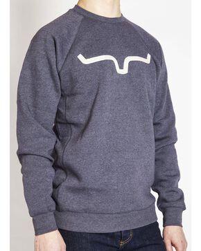Kimes Ranch Men's Vintage Crew Neck Sweatshirt , Navy, hi-res