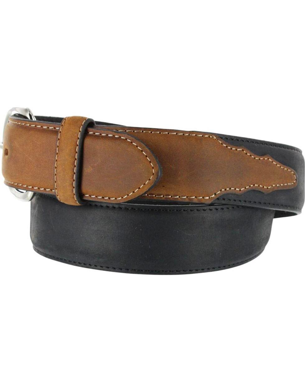 Brighton Men's Black Brass Western Leather Belt , Black, hi-res