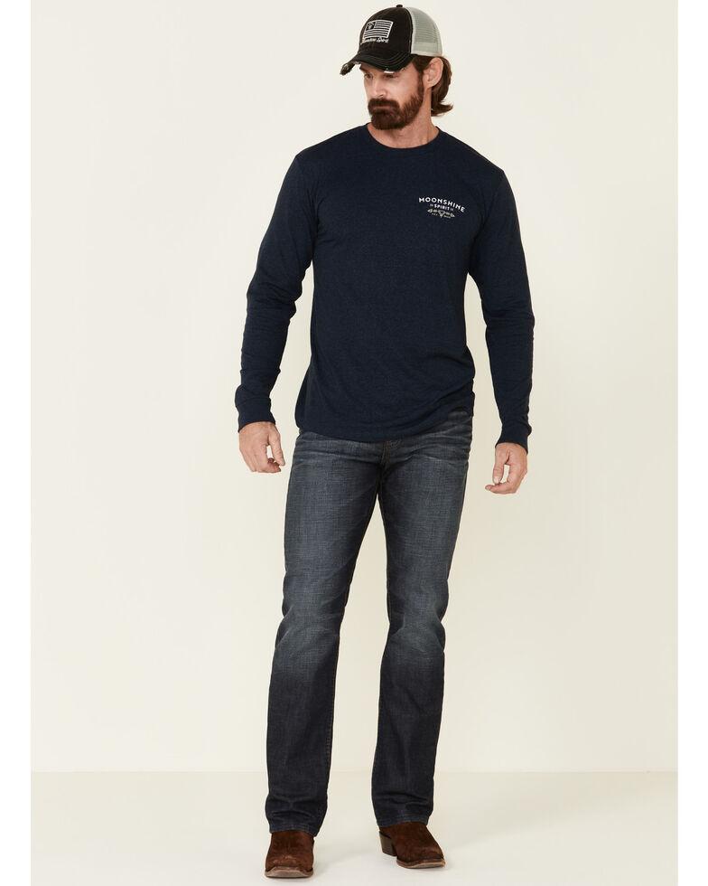 Moonshine Spirit Men's Navy Mountain Graphic Long Sleeve T-Shirt , Navy, hi-res