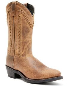 Laredo Men's Bucklace Western Boots - Round Toe, Tan, hi-res