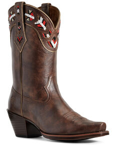 Ariat Women's Frontera Western Boots - Snip Toe, Brown, hi-res