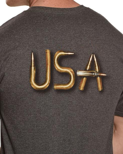 Cody James Men's USA Bullets Short Sleeve T-Shirt, Charcoal, hi-res