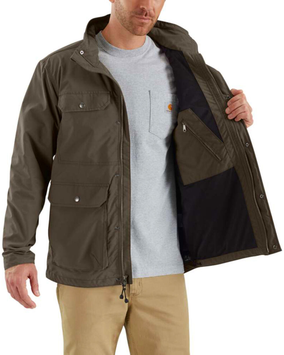 Carhartt Men's Firewood Utility Coat - Tall , Dark Grey, hi-res
