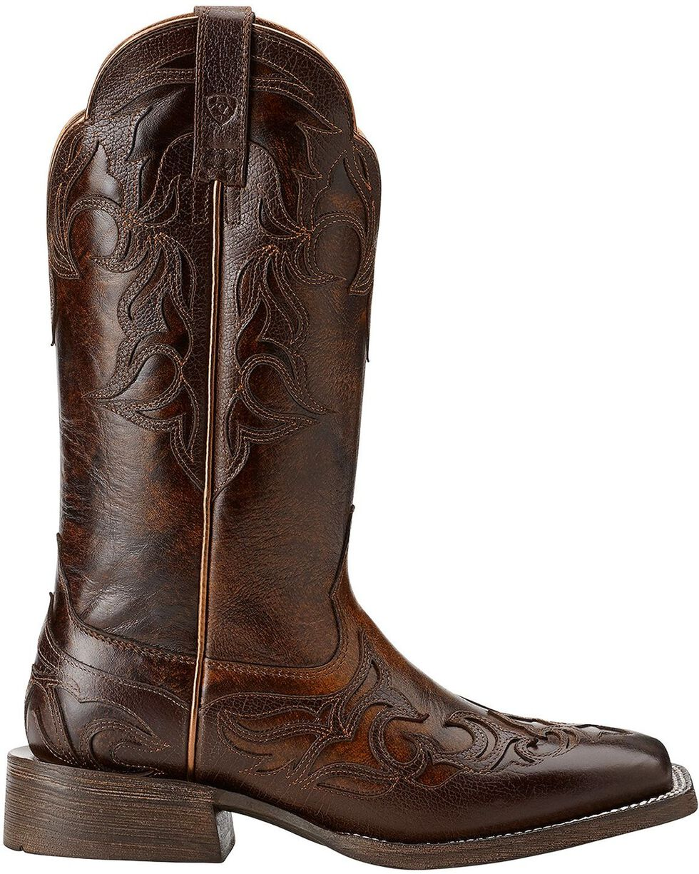 Ariat Cassidy Wingtip Cowgirl Boots - Square Toe, Mahogany, hi-res