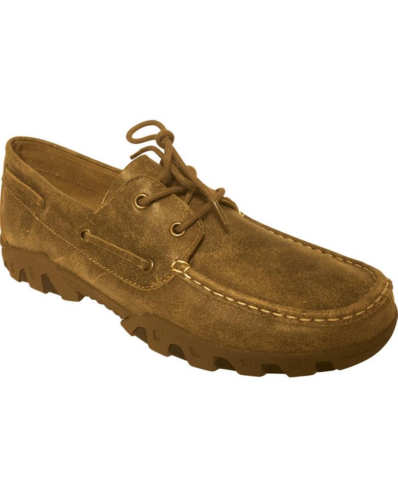 Ferrini Women's Mocha Laced Loafers - Moc Toe, Lt Brown, hi-res