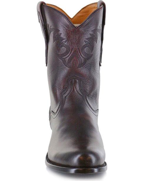 El Dorado Men's Black Cherry Vanquished Calf Roper Cowboy Boots - Round Toe, Black Cherry, hi-res