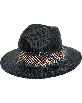 Peter Grimm Women's Black Danae Straw Hat , Black, hi-res
