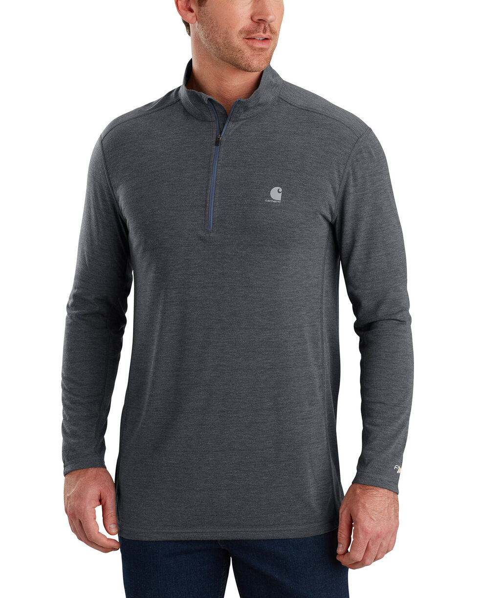 Carhartt Men's Force Extremes Long-Sleeve Half-Zip Pullover , Charcoal, hi-res