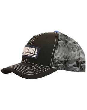 Rock & Roll Denim Men's Camo Trucker Cap, Black, hi-res