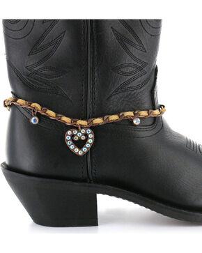 Shyanne Women's Heart Boot Bracelet, Lt Brown, hi-res