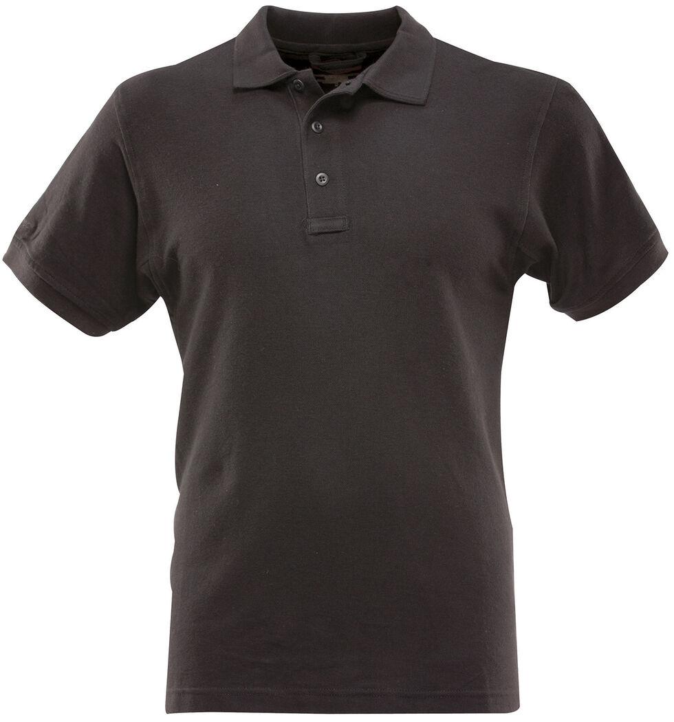 Tru-Spec Men's 24-7 Series Classic Cotton Polo Shirt, Black, hi-res