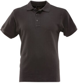 Tru-Spec Men's 24-7 Series Classic Cotton Polo Shirt - Extra Large Sizes (2XL - 5XL), Black, hi-res