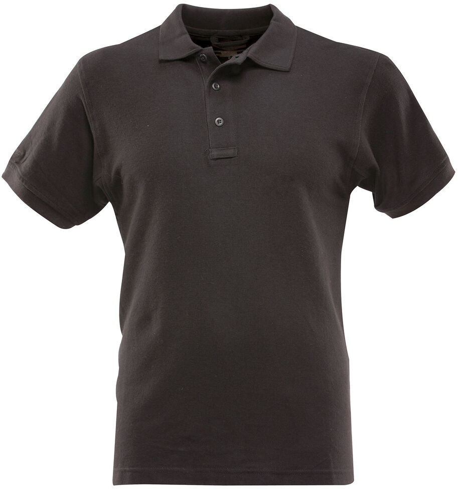 Tru-Spec Men's 24-7 Series Classic Cotton Polo Shirt - Extra Large Sizes (2XL - 5XL), Black, hi-res